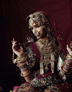 @IndiainPix ~  A bride of the Rabari tribe in #Rajasthan in all her bridal finery (Pic: Jimmy Nelson)