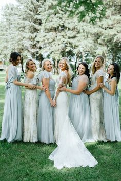 Loving This Blue Ivory Sage Print Mix Match Bridal Party Featuring The Convertible