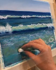 Sea art Ocean printYou can find Chalk pastels and more on our website. Soft Pastel Art, Chalk Pastel Art, Pastel Artwork, Oil Pastel Paintings, Oil Pastel Drawings, Chalk Art, Chalk Pastels, Ocean Artwork, Drawing With Pastels