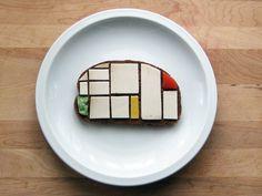 Mondrian sur une tartine, il fallait y penser.