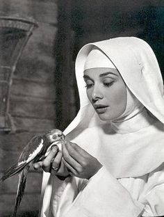 Audrey Hepburn in a promotional shot for The Nun's Story (1959).