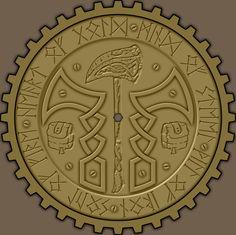 Dwarven Coin back, Antiqued Copper mockup Medieval Games, Fantasy Dwarf, Reference Images, Greek Mythology, Antique Copper, Character Concept, Vikings, Coins, Clay Ideas