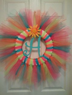 Tulle Wreath (EXAMPLE ONLY). $40.00, via Etsy.