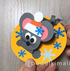 Winter paper Christmas craft for kids Mouse 2020 happy new year Christmas winter crafts for kids mouse 2020 Diy Crafts For Girls, New Year's Crafts, Winter Crafts For Kids, Paper Crafts For Kids, Christmas Crafts For Kids, Preschool Crafts, Art For Kids, Halloween Crafts, Holiday Crafts
