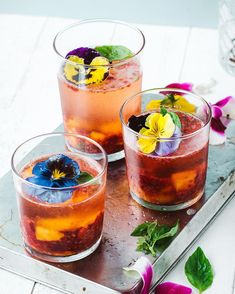 And all of the sudden, it's spring!  And to celebrate I made a little cocktail for @luvoinc with some smashed frozen berries, bubbly, and edible flowers. Takes a minute to make, even easier to drink   check out their blog for the full recipe!