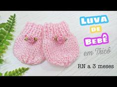 Luva de Bebê em Tricô | Ana Alves - YouTube