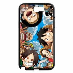MyTop Arts Japanese Anime Cartoon One Piece Characters protagonists Hard Case Cover for Samsung Galaxy Note 2 N7100
