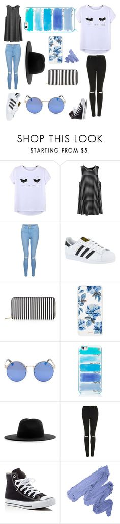 """Summer vibes"" by jaynicolefashion on Polyvore featuring Chicnova Fashion, New Look, adidas, Sonix, Kate Spade, Études, Topshop and Converse"