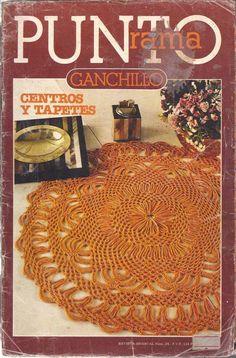 Revista #20: Punto Rama Ganchillo - Centros y Tapetes ~ CTejidas [Crochet y Dos Agujas]