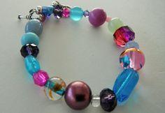 Spring Color Bracelet Purple Bracelet Blue Bracelet by mscenna, $10.00