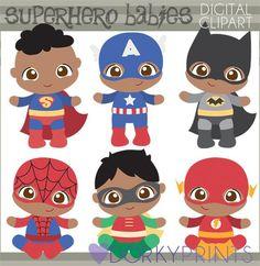 Baby Boy Super Hero Clip Art