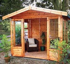 The Malvern Newland Apex summer house is available from GBC Group in a choice of timber finishes and a range of sizes. Best Greenhouse, Outdoor Greenhouse, Greenhouse Plans, Rustic Greenhouses, Summer House Garden, Summer Houses, Greenhouse Interiors, Screen House, Garden Studio