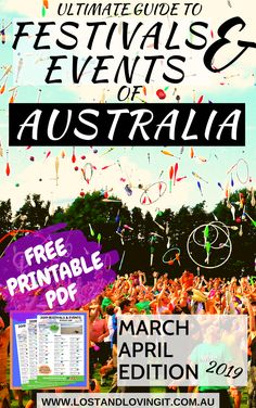 If you're going around Australia this March and April, here's a fantastic events guide just for you! See what to do and where you should be around Oz and party with the whole family!  Come take a look what's happening @Lostandlovingit1  © Lost and Loving It