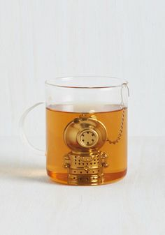Deep Tea Diver by Kikkerland ~ A charming addition to your nautical steampunk decor.