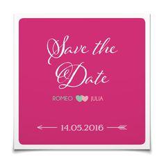Save the Date Amors Pfeil in Hibiskuspink - Postkarte quadratisch #Hochzeit #Hochzeitskarten #SaveTheDate #kreativ #modern https://www.goldbek.de/hochzeit/hochzeitskarten/save-the-date/save-the-date-amors-pfeil?color=hibiskuspink&design=61d6c&utm_campaign=autoproducts