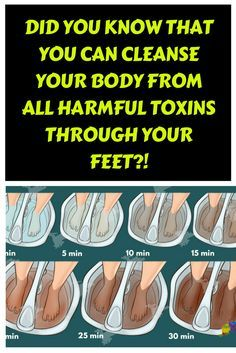 AMAZING: Did you know that You can CLEANSE your boxy from all harmful TOXINS through your feet?!...