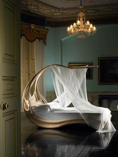 Enignum - Romantic Canopy Bed by Joseph Walsh - Left Side