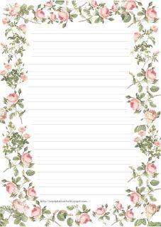 Papel de carta- Floral