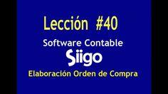 551. Lección # 40 Elaboración Orden de Compra _ Software Contable SIIGO