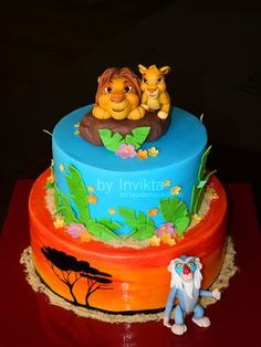 Lion King cake                                                                                                                                                                                 More