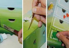 #Découpage: come creare 13 oggetti facili. Prova a fare la minicassettiera portagioie