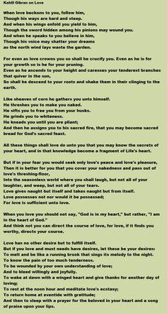 Kahlil Gibran's greatest love poem.