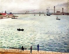 Port Scene / Albert Marquet. Albert Marquet studied at the Ecole des Beaux-Arts, where he met Henri Matisse in 1890. Matisse became a life-long friend; both artists were accepted in Gustav Moreau's painting class in 1897. In 1900 they worked together on the decoration of the Grand Palais at the Paris World Exhibition