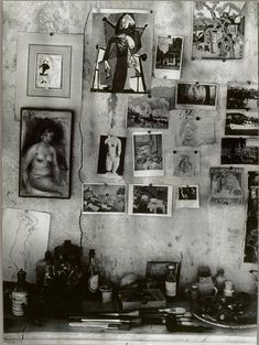 Bonnard's inspiration wall, photographed by Brassaï 1946