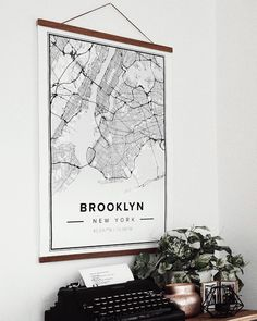 Map Wall Decor, Map Wall Art, Room Decor, Poster Wall, Brooklyn Map, Exposition Photo, Buying A New Home, Personalized Wall Art, Affordable Wall Art