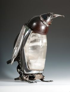 Mercedes Light Penguin BY JAMES CORBETT, LOVE HIS WORK! DIY-DO IT YOURSELF INSPIRATION=>GALLERY OF HIS WORKS; UNDER COPYRIGHT