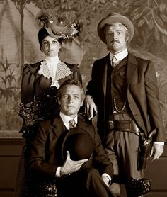 Robert Redford and Paul Newman and Katherine Ross in Butch Cassidy and The Sundance Kid