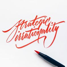 Strategic irrationality.  A technique often employed by my children, and surprisingly effective. Happy Friday all!   #makedaily #brushscript #brushpen #typographyinspired #inking #ink #lettering #handstyles #tombow  #script #thedailytype #caligrafia #graffiti #showusyourtype #graphicdesign #goodtype  #typedaily #typespire #handmadefont #art #handmade
