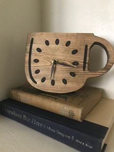Small clock cup of coffee or tea coffee bean clock handmade | Etsy Little's Coffee, Coffee Beans, Coffee Cups, Just Love Coffee, Small Clock, Handmade Clocks, Amazing Decor, Garden Items, Desk Clock
