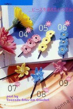 Tecendo Artes em Crochet: Vamos enfeitar as cabeçinhas? Com flores, lógico!