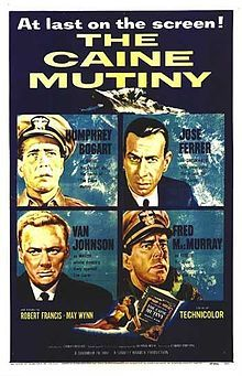 The Caine Mutiny is a 1954 American drama film set during World War II, directed by Edward Dmytryk and produced by Stanley Kramer. The film depicts a mutiny aboard a fictitious World War II U.S. Navy destroyer minesweeper, the USS Caine (DMS-18), and the subsequent court-martial of two officers.