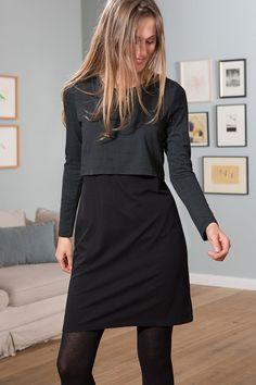 Jerseykleid, Grafik Print : Maas Natur - Ökologische Mode, fair produziert für die ganze Familie
