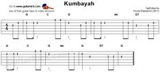 Kumbayah - guitar tab