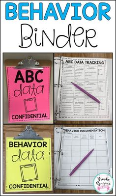 Get organized with all your behavior data and ABC data with this behavior binder. Full of behavior resources, data collection sheets, observation notes and so much more! Preschool Behavior, Student Behavior, Classroom Behavior, Special Education Classroom, Preschool Classroom, Classroom Ideas, Future Classroom, Social Behavior, Student Data
