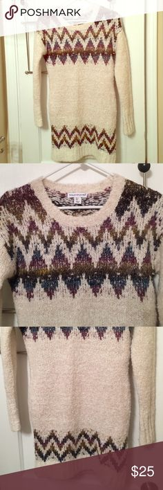 Long knit chevron sweater Long knit colored chevron sweater Sweaters
