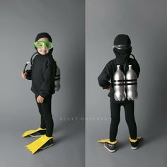 Diver make your own costume ✓ For carnival, Halloween & maritime theme parties ✓ Accessories, Carnaval Diy, Theme Carnaval, Boy Costumes, Carnival Costumes, Halloween Costumes For Kids, Christmas Costumes, Halloween Christmas, Homemade Halloween, Easy Halloween