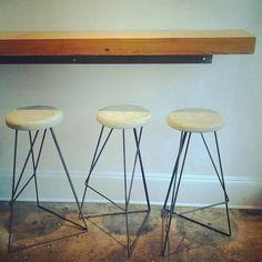 Industrial coleman bar stool