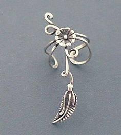 EAR CUFF - Morning Glory Flower and Vine Sterling Ear Cuff | Shop | Kaboodle I…