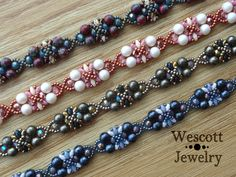 Pattern for Daybreak Bracelet with MiniDuos and by WescottJewelry