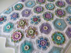 My Frida's Blossom - HadarU (pattern from Jane Crowfoot)