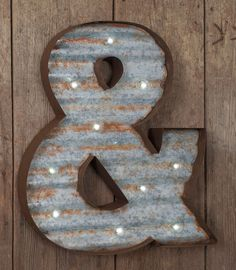 Corrugated Metal Ampersand Marquee Sign sold by Southern Inspired ...