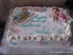 Tortas de bautizo de crema - Imagui