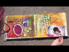 'Contents' Art Journal Flip - lots of journalling technique videos