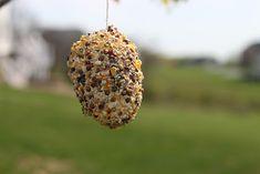 easter egg bird feeder- -Easter Crafts for Toddlers