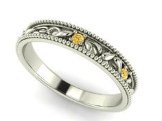 vine and leaf, Yellow Diamonds Engagement rings, bridal bands, Unique Wedding Eternity band, Yellow Natural Diamonds set , LOVE Ring by BridalRings on Etsy https://www.etsy.com/listing/236204188/vine-and-leaf-yellow-diamonds-engagement