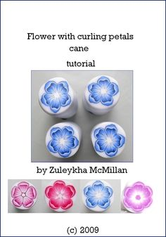Flower, polymer clay cane tutorial. via Etsy.